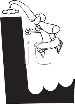 Royalty Free Clipart Image of a Leeming Leaping