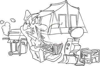 Royalty Free Clipart Image of an Ultra Camper