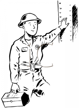 Royalty Free Clipart Image of a Steel Worker