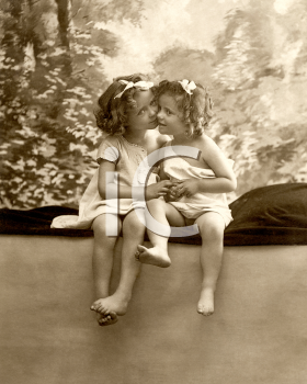 Royalty Free Photo of Two Little Girls