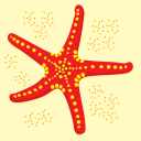 Royalty Free Clipart Image of a Starfish