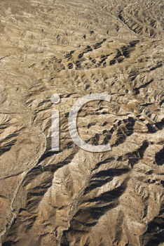 Royalty Free Photo of an Aerial View of Mountainous Terrain in Southwest
