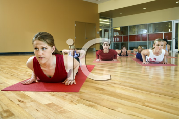 Royalty Free Photo of Women in Yoga Class