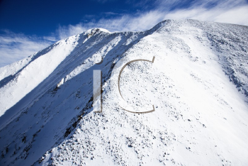 Royalty Free Photo of an Aerial Scenic of Snowy Sangre De Cristo Mountains, Colorado, United States in Winter