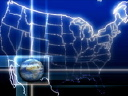 Royalty Free Video of a Globe and a Map of the United States