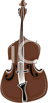 Royalty Free Clipart Image of a Double Bass