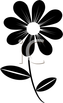 Royalty Free Clipart Image of a Daisy