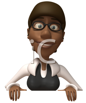 Royalty Free Clipart Image of a Black Woman