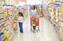 Royalty Free Photo of a Mother and Daughter Shopping