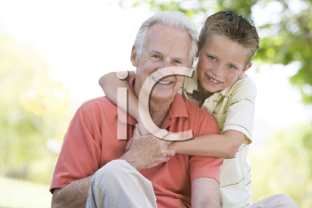 Royalty Free Photo of a Man and His Grandson