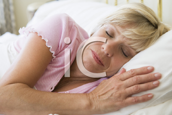Royalty Free Photo of a Woman Sleeping