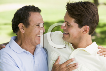 Royalty Free Photo of Two Men Outside