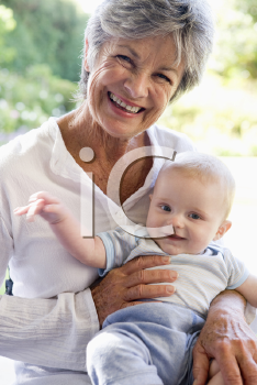 Royalty Free Photo of Grandmother and Baby