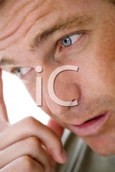 Royalty Free Photo of a Thoughtful Man
