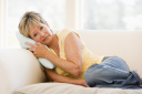 Royalty Free Photo of a Woman Feeling Unwell