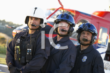 Royalty Free Photo of Paramedics With an Air Amublance