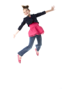 Royalty Free Photo of a Young Girl Leaping