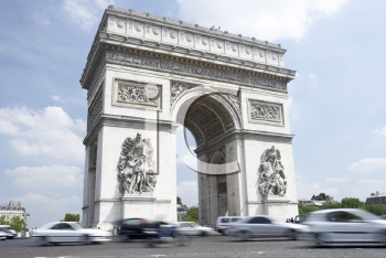 Royalty Free Photo of the Arc de Triomphe