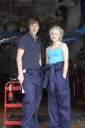 Royalty Free Photo of a Mechanic and Apprentice