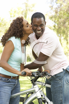 Royalty Free Photo of a Couple Cycling