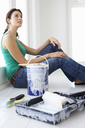 Woman decorating house