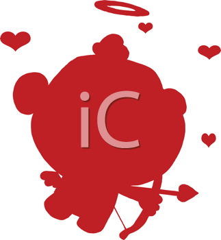 Royalty Free Clipart Image of a Cute Cupid