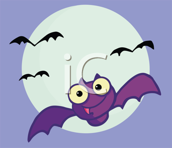 Royalty Free Clipart Image of Bats