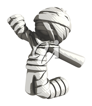 Mummy or Personal Injury Concept Jumping for Joy