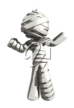 Mummy or Personal Injury Concept Shrugging in Disbelief