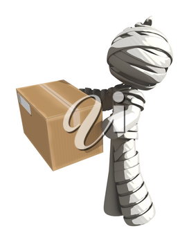 Mummy or Personal Injury Concept Handing over a Box