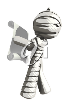Mummy or Personal Injury Concept Reading Scroll