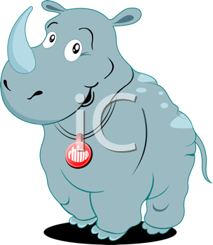 Cute Rhino Vector Illustration
