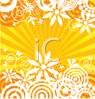 Royalty Free Clipart Image of a Summer Background