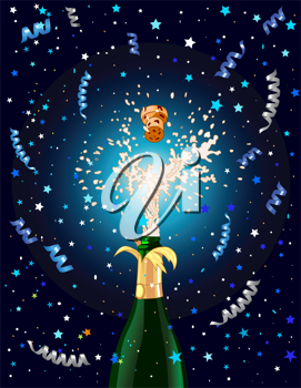 Celebration  background with Champagne. Best for New Year's Eve