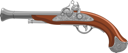Illustration of old Pirate Gun