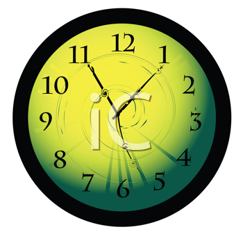 Royalty Free Clipart Image of a Desktop Clock