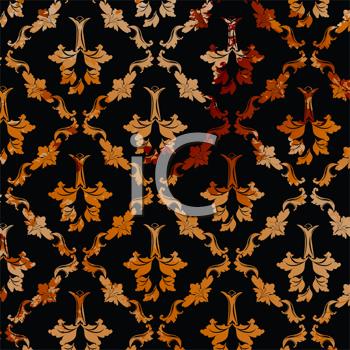 Royalty Free Clipart Image of a Grungy Baroque Pattern Background