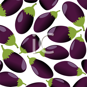 Seamless background with eggplant