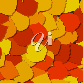 Seamless background with autumn leaves on the ground.