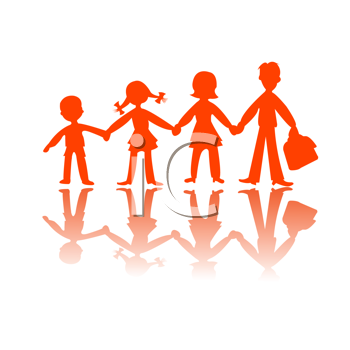 Royalty Free Clipart Image of Four People