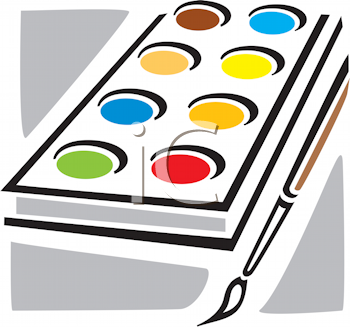 Royalty Free Clipart Image of a Water Paints