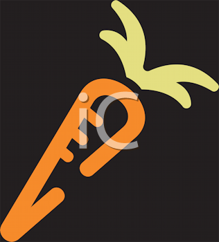Royalty Free Clipart Image of a Carrot