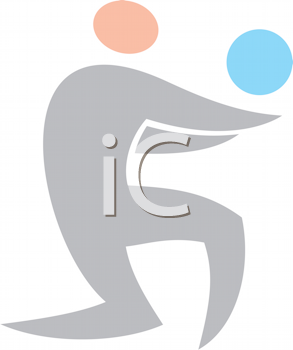 Royalty Free Clipart Image of a Volleyball Player
