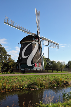 Royalty Free Photo of a Windmill in Holland