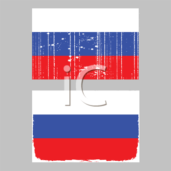 Royalty Free Clipart Image of a Russian Flag
