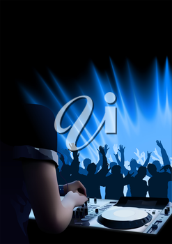 Royalty Free Clipart Image of a Discotheque