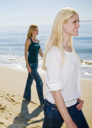 Royalty Free Photo of Two Women on the Beach