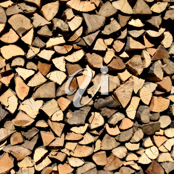 Pile of wood background