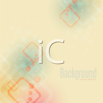 Royalty Free Clipart Image of a Background With Squares and Dots
