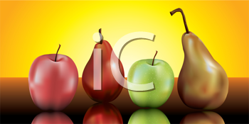 Royalty Free Clipart Image of Fruit
